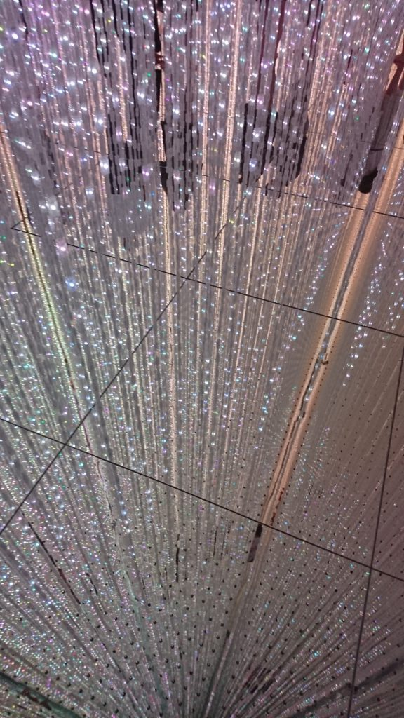 """""""The Infinite Crystal Universe"""" at team Lab Planets in Toyosu, Tokyo"""