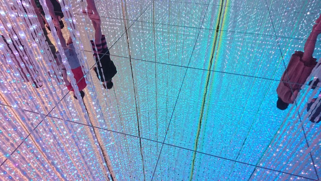 """The Infinite Crystal Universe"" at team Lab Planets in Toyosu, Tokyo"