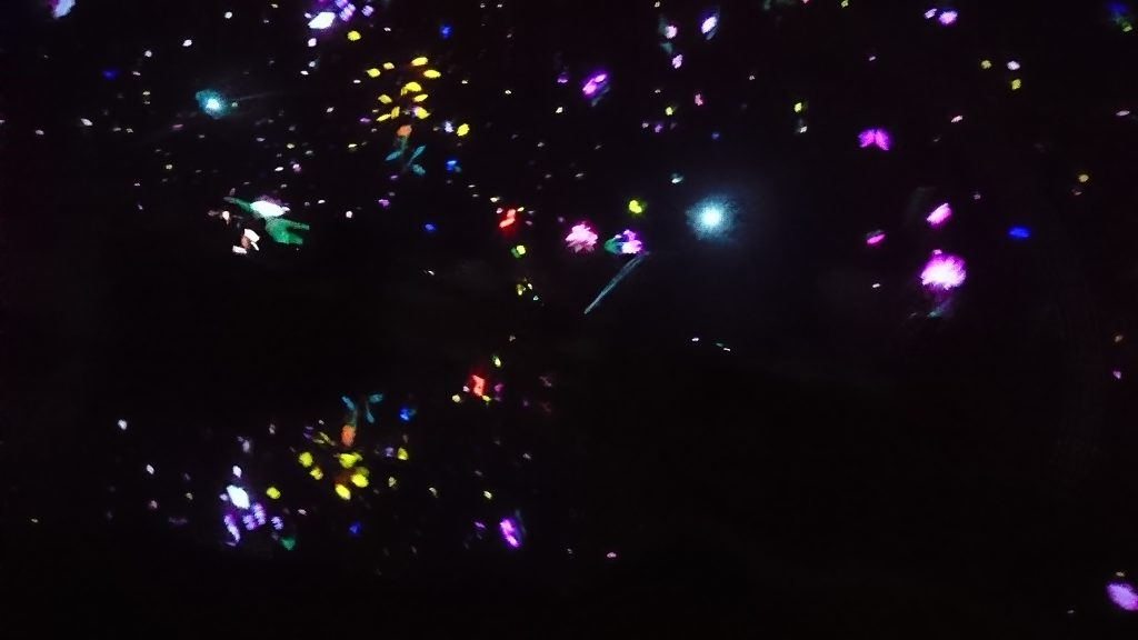 """""""Floating in the Falling Universe of Flowers"""" at team Lab Planets in Toyosu, Tokyo"""